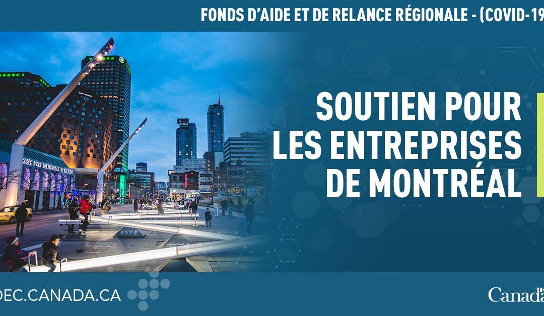 Ottawa et Québec versent 50 millions $ aux PME en difficulté économique de Montréal