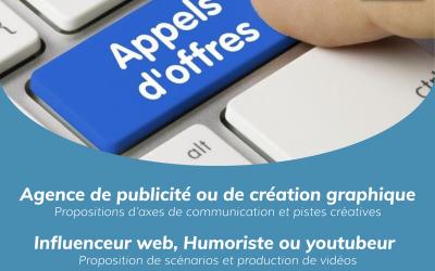 Appels d'offres agence de publicité et web influenceur (Humoriste ou Youtubeur)